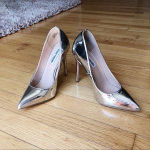 Steve Madden Silver Pointed Toe Heels